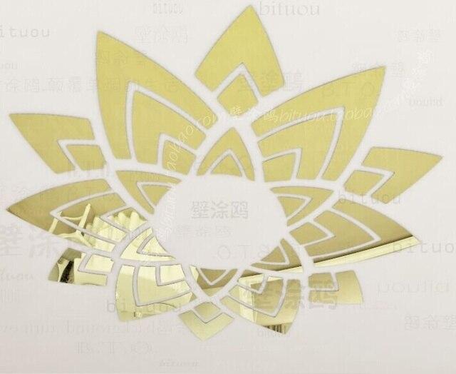 70x70CM Ceiling lamp cap wall mirror decoration , 3D decorative top ...