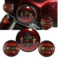 "7 Inch Harley Daymaker LED Headlight + 2x 4-1/2"" Fog Light Passing Lamps for Harley Davidson Motorcycle"