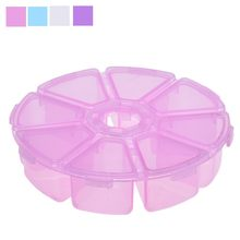 ISHOWTIENDA 8 Grids Plastic Desktop Storage Box Jewelry Cosmetic Solid Small Plastic Box Makeup Organizer Case High Quality(China)