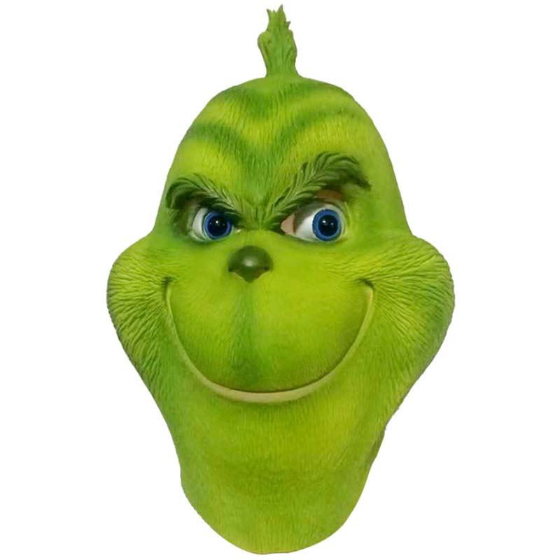 The Christmas Grinch Cosplay Mask Latex Full Head Costume Party Masks Realistic Adult Funny Event Props