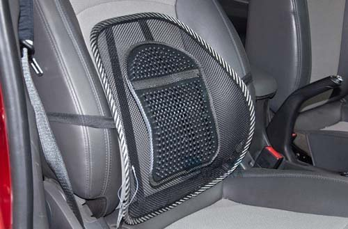 Free shipping New Car Seat Chair Massage Back Lumbar Support Mesh Ventilate Cushion Pad Black