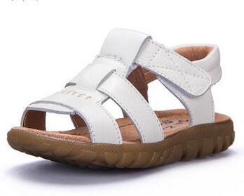 Childrens Shoes 2016 New 7 Designs Boys Soft Leather Sandals Baby Boys Summer Prewalker Soft Sole Genuine Leather Beach Sandals