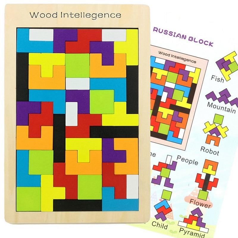 Puzzle en bois jouets Tangram Jigsaw Briques Jouet Cadeau De Noël - Jeux et casse-tête - Photo 2