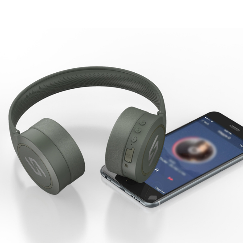 Casque Bluetooth 4.2 écouteur armée vert casque sans fil haute qualité sonore stéréo fonction d'appel musique Cool Sport