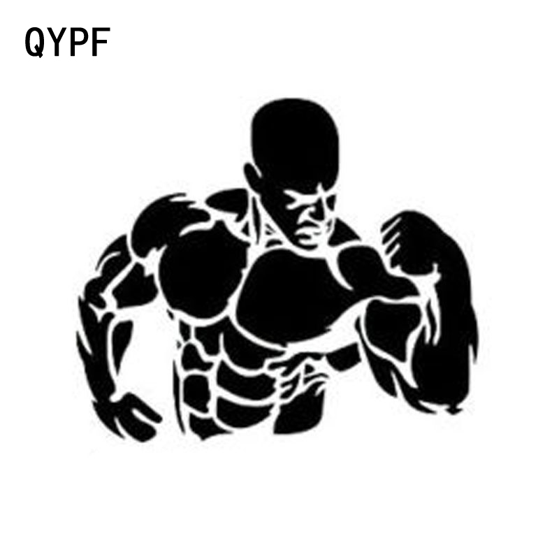 QYPF 11.5cm*9.8cm Personality Creative Fashion Muscle Man Car Stickers Car Styling S2-0366