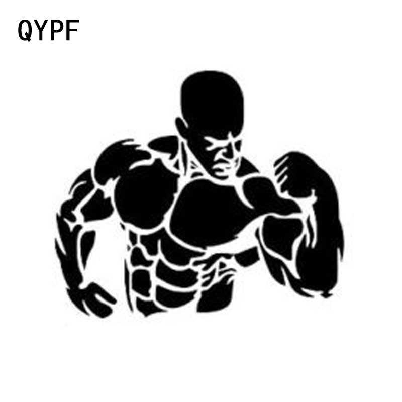 QYPF 11.5cm * 9.8cm kişilik yaratıcı moda kas adam araba çıkartmaları araba Styling S2-0366