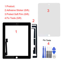 "1Pcs Brand New 9.7"" LCD Outer Touch Screen Digitizer For iPad 4 4th Gen A1458 A1459 A1460 Repair Replacement Part(China)"