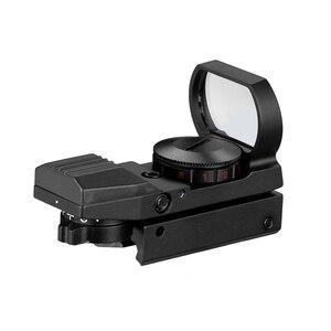 Image 2 - Quente 20mm ferroviário riflescope caça óptica holográfica red dot sight reflex 4 reticle tactical scope colimador vista