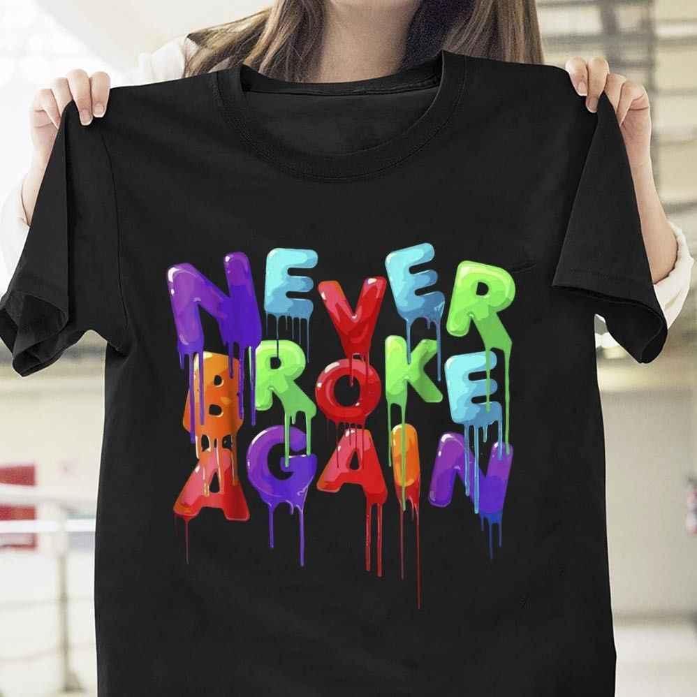 c716cccdc4bc Y0ungboy Never Broke Again Colorful T Shirt Black Cotton Men T-Shirt  Cartoon t shirt