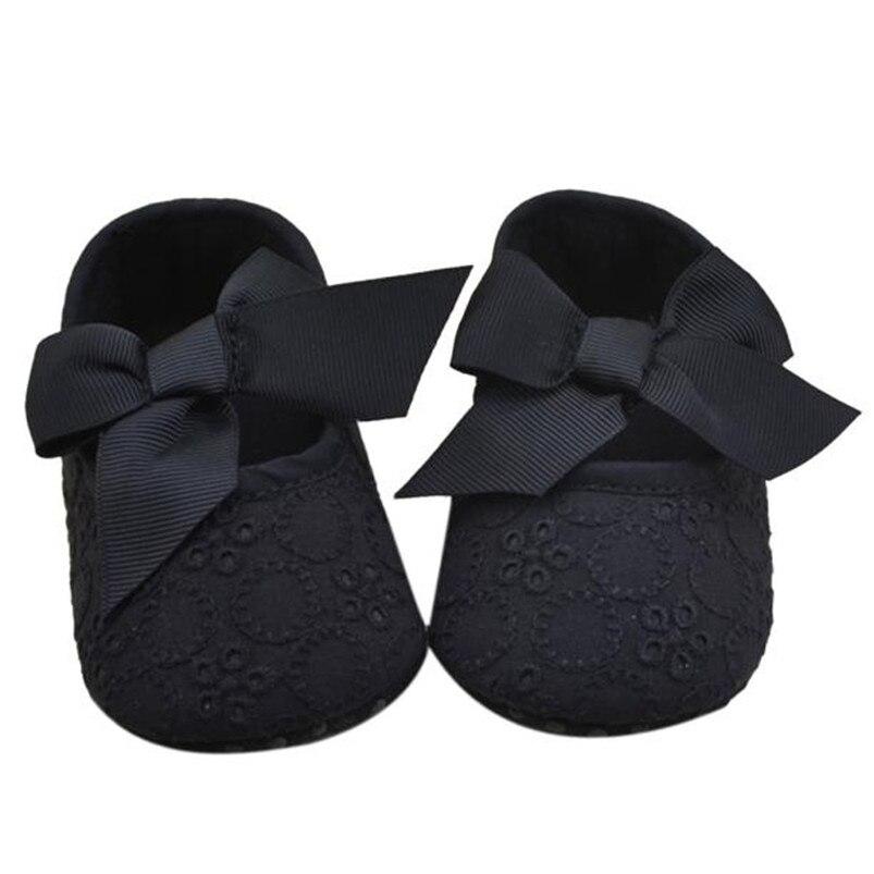 2017 New baby first walker shoes Infant Girls Cotton Ribbon Bowknot Soft Bottom Flower Prewalker wholesale