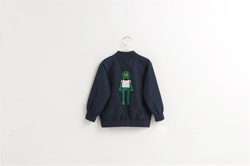 New arrival European Autumn Children's jacket Boys&Girls frog pattern clothes cardigan kids zipper cartoon outerwear tops