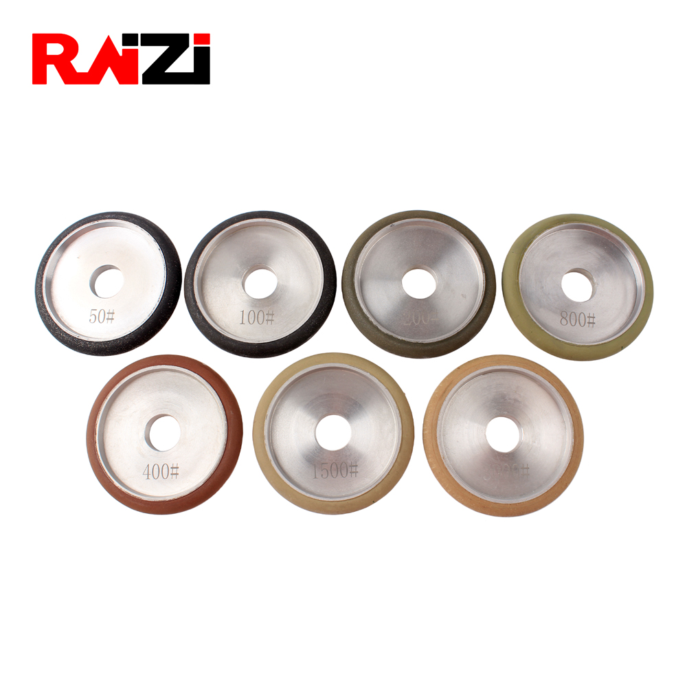 Raizi 4 Inch 12mm Diamond Fluting Wheels | Stone Grinding Tools Grit 50-3000