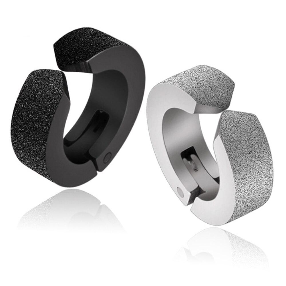 Fake/No piercing stainless steel earring, Korea fashion earring stud for men, Hip hop jewelry
