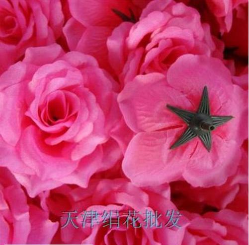 50 шт. искусственная Камелия Роза Пион Свадебные цветы декоративные искусственные цветы несколько цветов - Цвет: medium pink