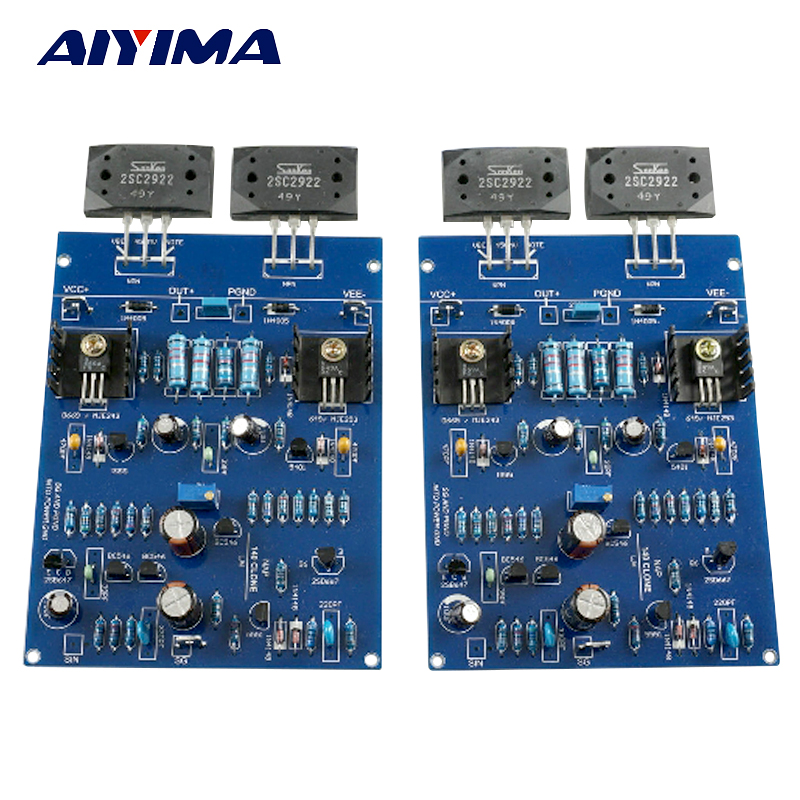 Aiyima NAIM NAP140 AMP CLONE KIT 2SC2922 Amplifier board Kits For DIY 2 channels J163 gzlozone one pair clone naim nap140 amplifier kit diy amp kit 2 channel