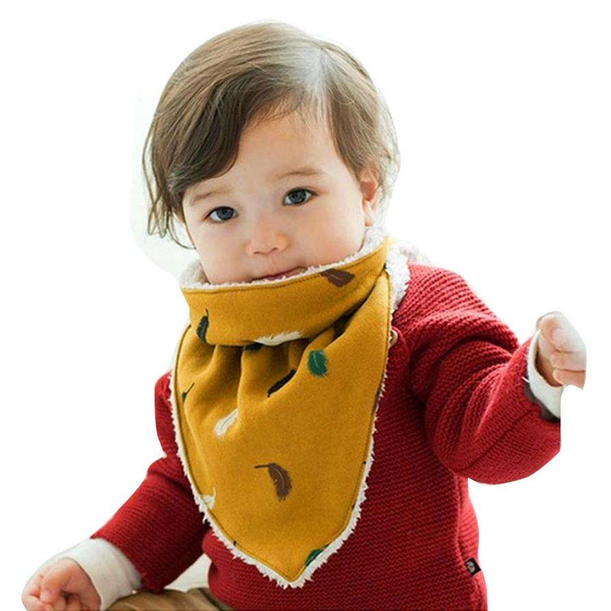 BMF TELOTUNY Fashion Warm Cotton Printing Baby Boy Girl Kid Toddler Bandana Baby Bibs Saliva Towel Apr12 Drop Ship