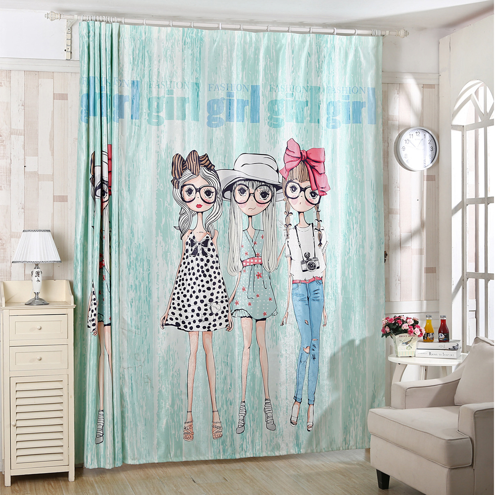 Korean Style Princess 3d Window Curtain For Living Room