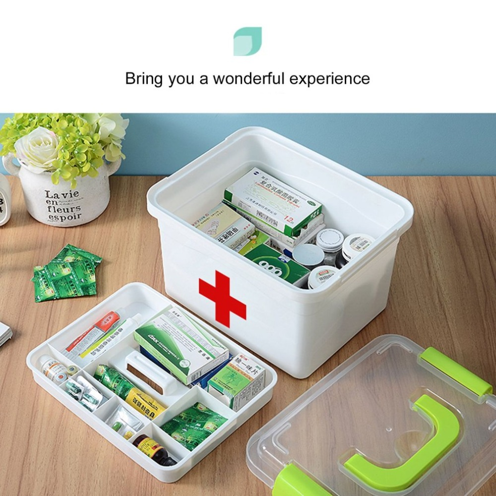 1PCS Multi-layered Large Family First Aid Kit Box Medicine Medical Storage Box Medical Plastic Drug Gathering Organizer Boxes цена