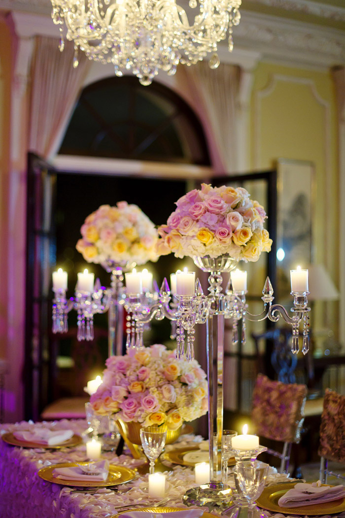 4 arms with flower bowl 80cm 31.4inch Tall crystal candelabra ...
