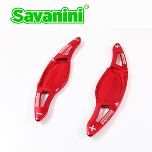 Image 4 - Savanini Aluminum Car Steering Wheel Shift Paddle Extension For New Audi R8(2016 2017),RS3(2017) TT RS(2016 2017) car styling