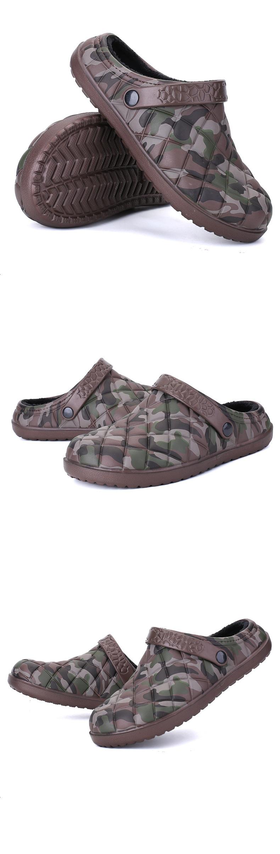 35472883ec9e New Winter Men Sandals 2017 New Croc Men Beach Shoes Camouflage ...