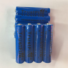6pcs/lot TrustFire 3.7V TR10440 600mAh 10440 Li-ion Battery Rechargeable Batteries for LED Flashlights Headlamps