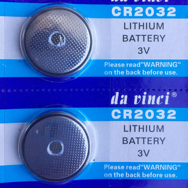 5pcs CR2032 Button Batteries BR2032 DL2032 ECR2032 Cell Coin Lithium Battery 3V CR 2032 For Watch Electronic Toy Remote