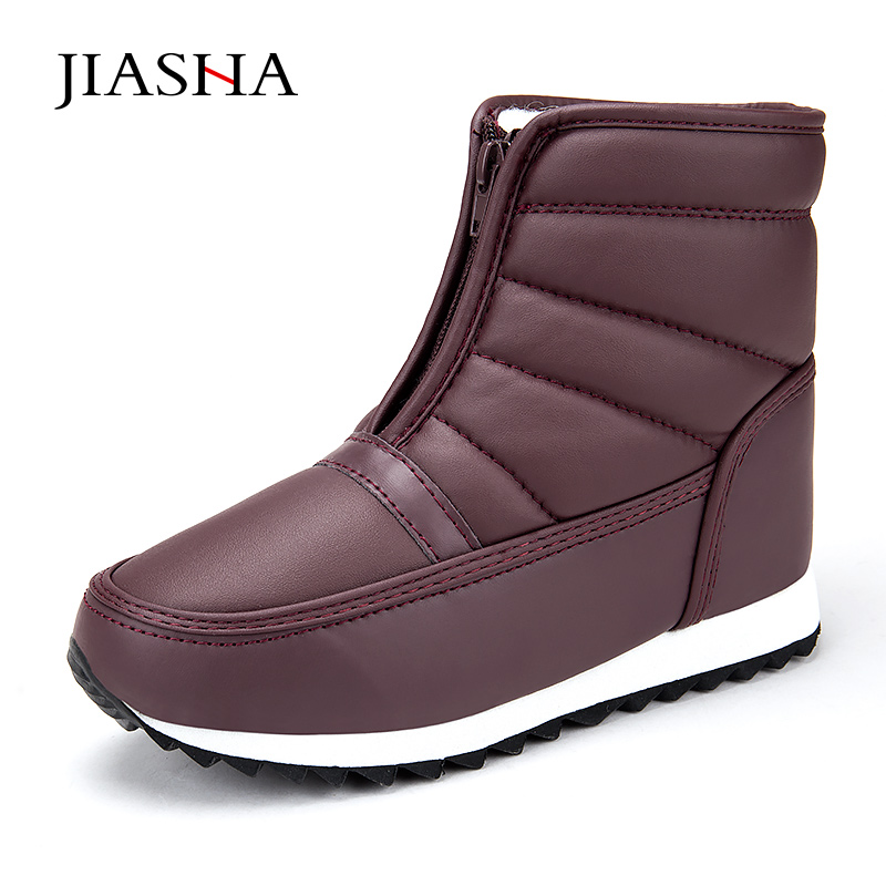 2018 New Fashion Winter Casual Snow Boots Waterproof Women Ankle Boots Flat with Winter Shoes Woman Boots