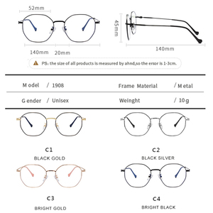 Image 5 - Anti Blue Light Glasses Women Men  Spectacle Frame Computer Gaming Eyewear Goggle for Men Radiation Resistant Glasses UV400