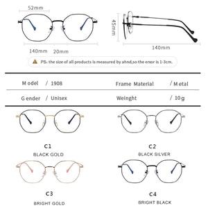 Image 5 - Óculos anti azul para computador, óculos de proteção contra luz azul, unissex, resistente à radiação uv400