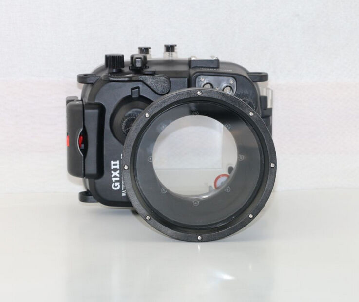 Meikon 40m 130ft Camera Underwater Diving Housing Case for Canon G1X II