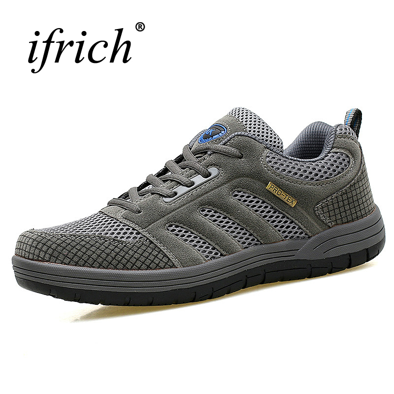 Ifrich Mountain Climbing Hiking Shoes for Men Mesh Breathable Trekking Sneakers Spring/Summer Outdoor Trainers Lightweight блок питания пк chieftec aps 650sb 650w aps 650sb