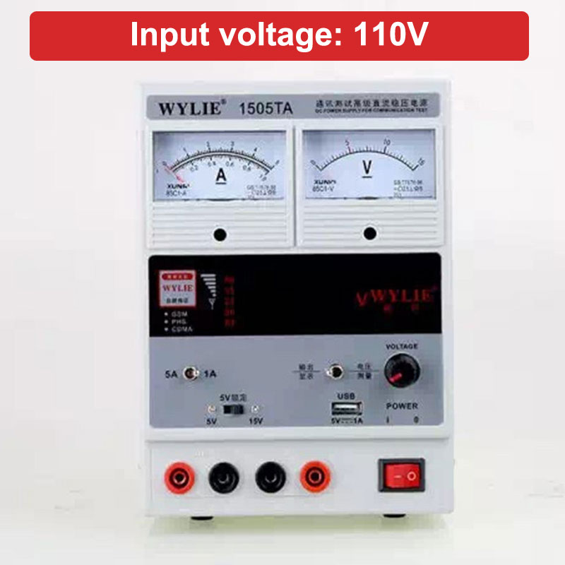 WYLIE 110V 15V 5A Regulated Power Supply Digital LED Display DC Power Supply for Mobile Phone Repair Test цена и фото