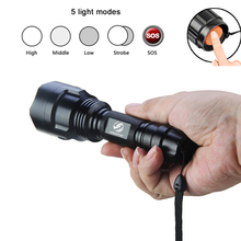 LED Flashlight CREE XML-T6/L2 Torch 8000Lumens for Riding Camping Hiking Hunting & Indoor Activities with 18650 battery+charger