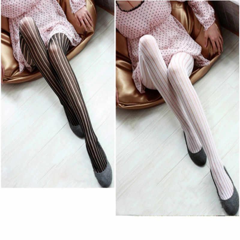 1 ADET Sıcak Yeni Moda Kadınlar Seksi Siyah Fishnet Desen Jakarlı Calcetines Bacak Isıtıcıları Çorap Külotlu Çorap Tayt