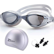 Swimming Glasses Myopia Adults Pool Waterproof Cap Earplug prescription natacion Diving Goggles Diopter Swim Eyewear