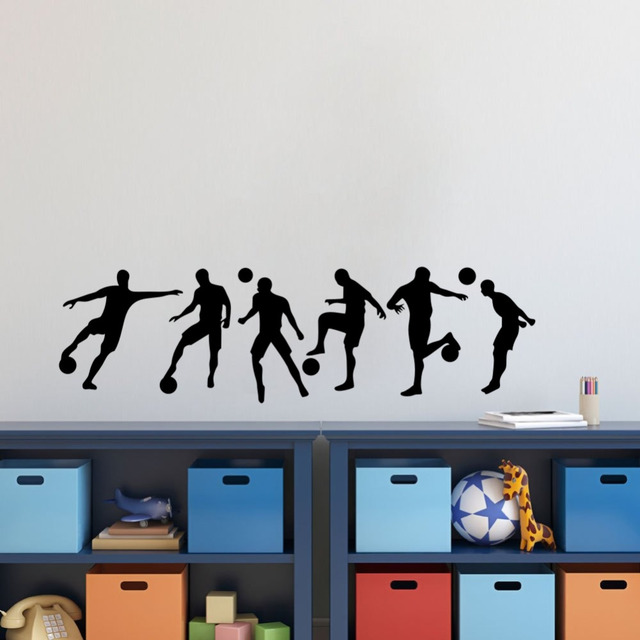Soccer Sportsman Diy Vinyl Wall Sticker Boys Bedroom Room Football Wall Art Decal & Soccer Sportsman Diy Vinyl Wall Sticker Boys Bedroom Room Football ...