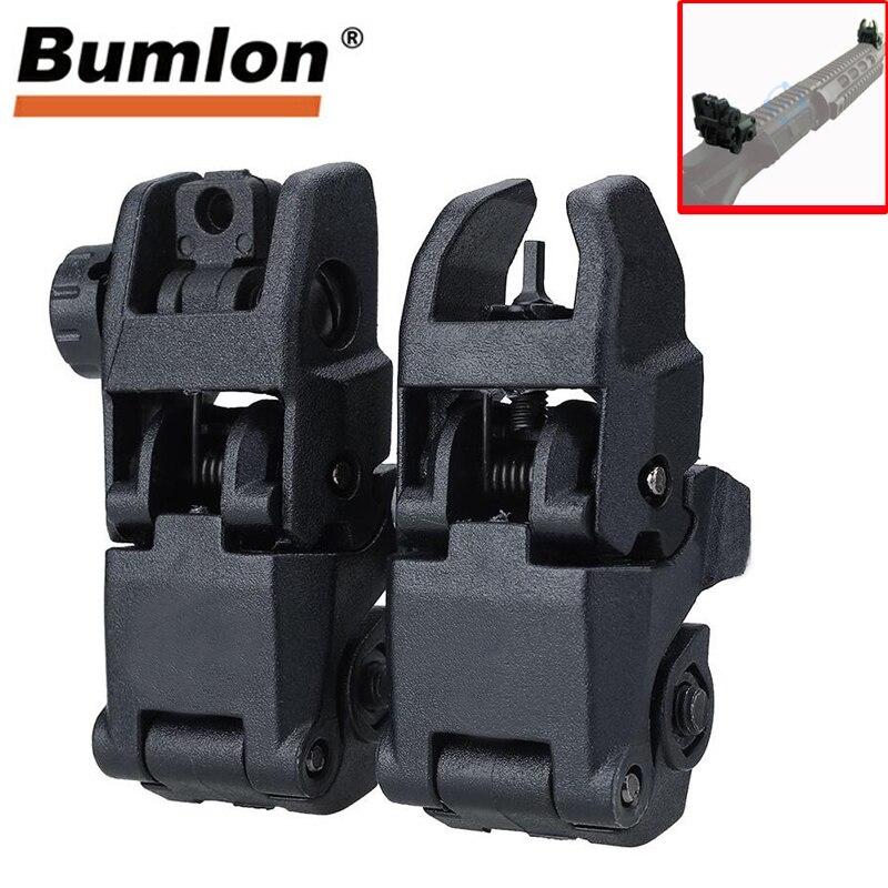 Tactical Military Arms Gear GEN 1 przednia i tylna tylna celownik zestaw Tan lub czarny, AR 15 AR15 Offset Backup błyskawiczna zmiana BUIS