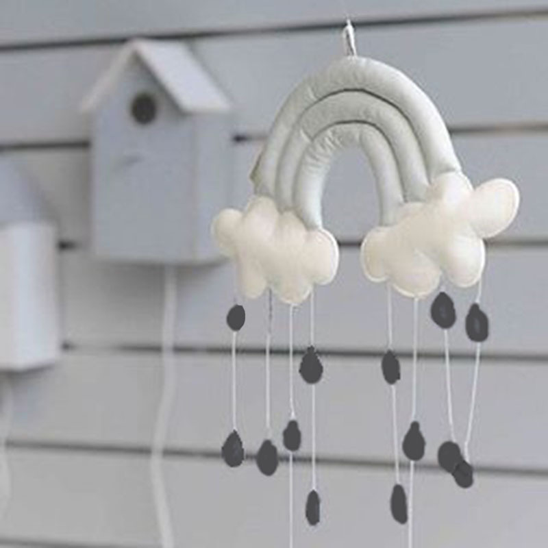 1pcs Kids Play Tent Decoration Tent Props Raining Clouds Baby Bed Hanging Toys Baby Room Children Crib Hanging Decoration