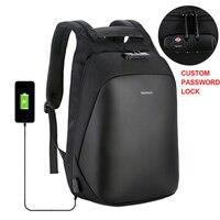 Anti theft Backpack Men Backpacks Laptop 15.6'' Waterproof USB Password Lock Bag Pack Business Travel Luggage Male Backpacking