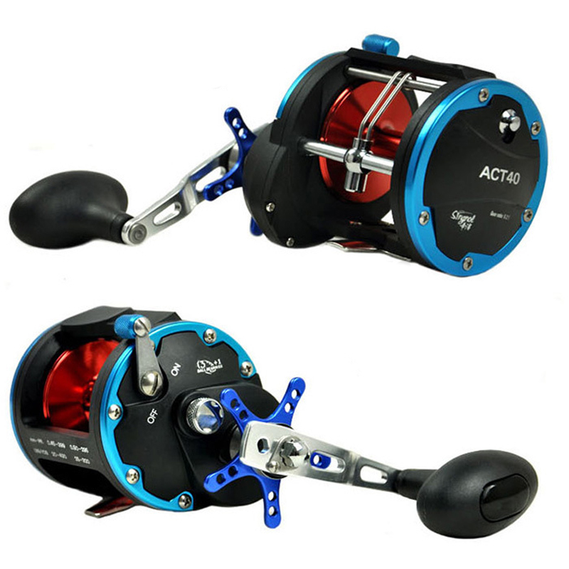 SINGNOL Boat Reel ACT20 ACT30 ACT40--4BB Trolling Boat Fishing Wheel Saltwater Drum Fish Reel Deep Sea Casting Right Hande trolling reel 9 1bb drum wheel carp baitcasting reels centrifugal brake casting saltwater fishing reel super power drag 30kg