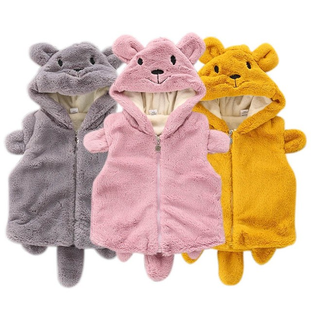 Newborns Toddler Girls Coats Kids Outerwear Vests Cute Bear Style ...