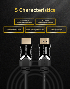 Image 3 - Navceker 2020 48 2,1 Gbps HDMI Cables 8K @ 60Hz HDMI 2,1 Cable 8K Cable HDMI 2,1 HDR 4K HDMI 2,1 Cabo para Apple TV Samsung QLED TV