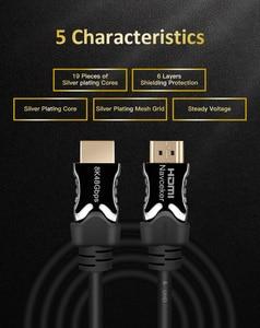 Image 3 - Navceker 2020 48Gbps 2.1 HDMI כבלי 8K @ 60Hz HDMI 2.1 כבל 8K כבל HDMI 2.1 HDR 4K HDMI 2.1 Cabo עבור Apple הטלוויזיה סמסונג QLED טלוויזיה