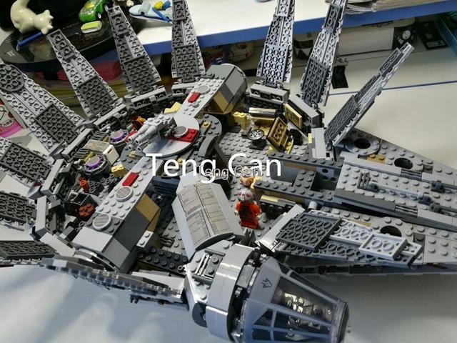 Leping 1381 unids Star Wars 05007 Millennium Falcon Figura marvel minis Niños brinquedos Juguete bloques de construcción de Juguetes 75105