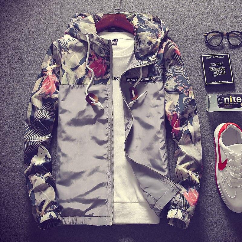 2018 Stylish Fashion High Quality Jacket Coats, Men Causal Hooded Jacket,Men Thin Windbreaker Zipper Coats Outwear Size