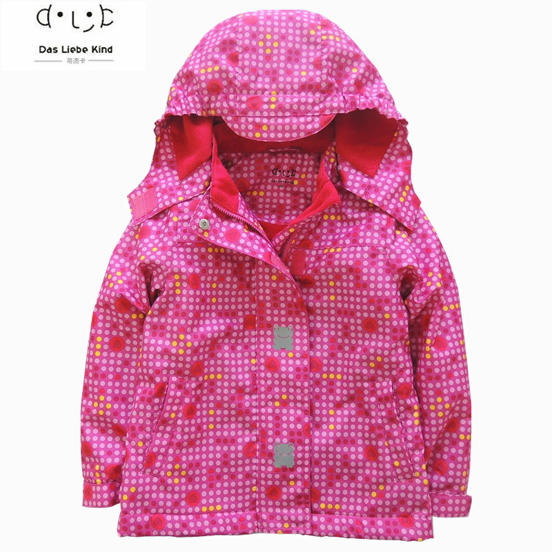 Children clothing boys girls clothes polka dot printed coat kids hooded brand jackets waterproof girl blazer 3-12Y