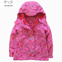 2016 autumn children clothing boys girls clothes polka dot printed coat kids hooded brand jackets waterproof girl blazer 3-12Y