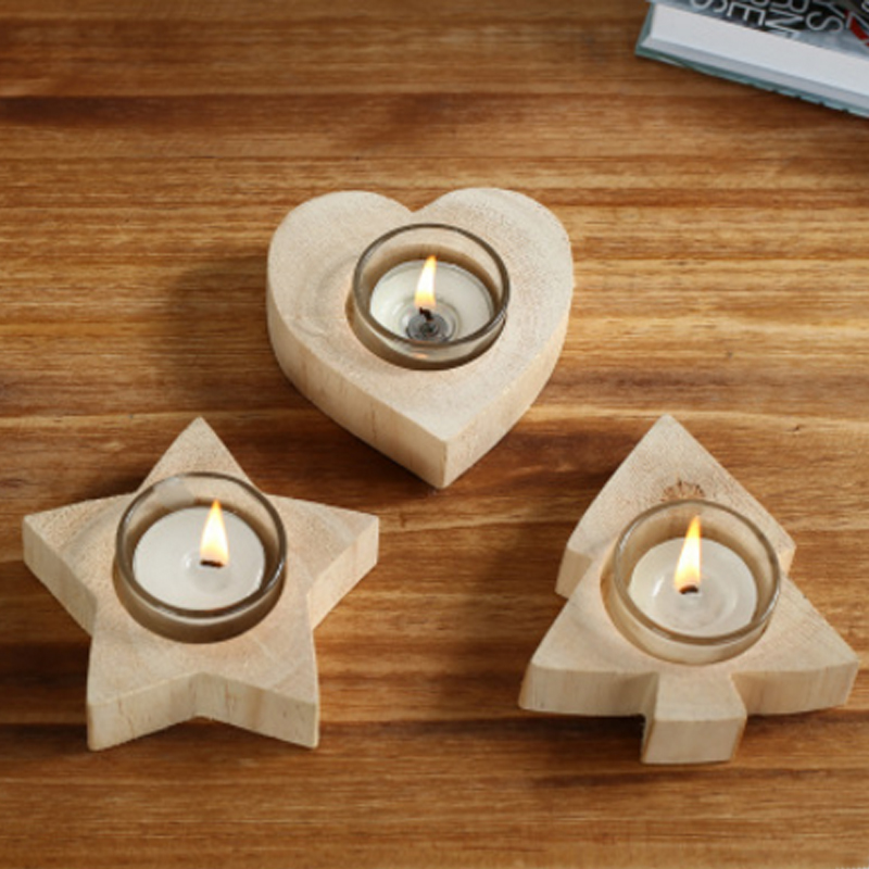 Original Design Handmade Classic Retro Wooden Candle