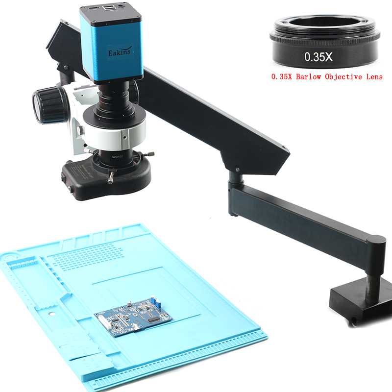 2019 Universal Rotable Articulating Clamp Arm Stand 200X Zoom Lens SONY <font><b>IMX290</b></font> Auto Focus Industry HDMI Video <font><b>Microscope</b></font> Camera image